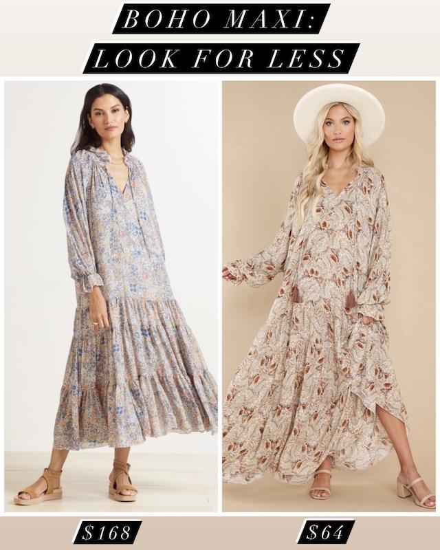 Boho maxi dress look for less | My Style Diaries blogger Nikki Prendergast