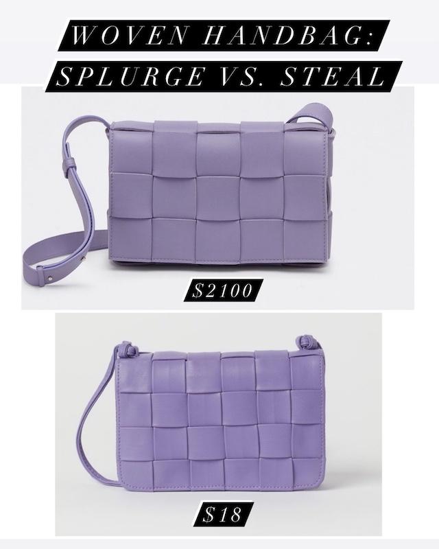Woven leather handbag look for less | My Style Diaries blogger Nikki Prendergast