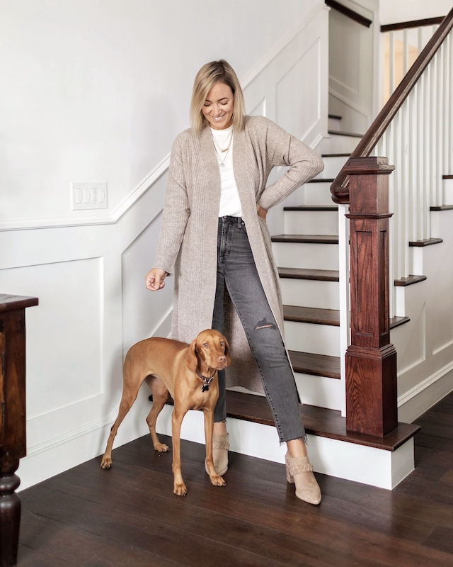 Cozy fall neutrals and wide width comfy shoes   My Style Diaries blogger Nikki Prendergast